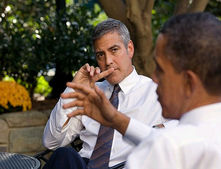 george clooney barack obama