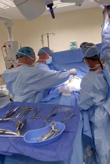 operating room c-section