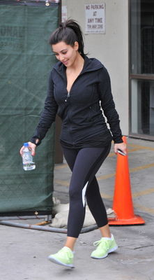 Kim Kardashian leaves the gym