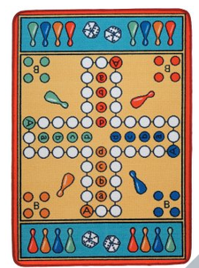 parcheesi rug