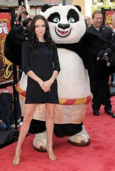 Angelina Jolie with Kung Fu Panda