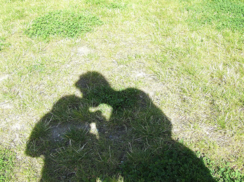 kissing in shadow