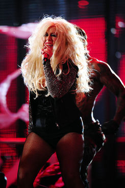 christina aguilera performing at michael jackson tribute concert in wales