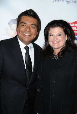 George Lopez and Ann Serrano