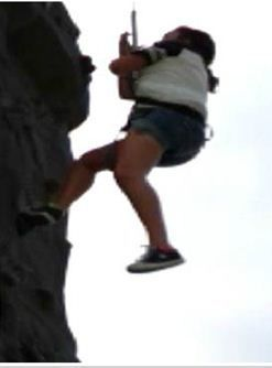 rock climbing teen