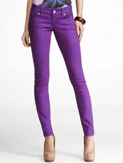 purple jean leggings