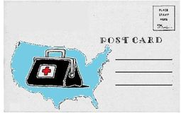 healthcare postcard