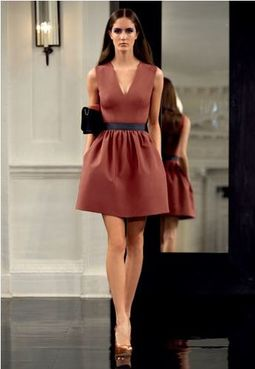 Victoria Beckham dress blush