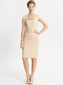 Banana Republic dress nude
