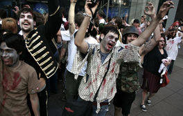 zombies dancing to halloween music