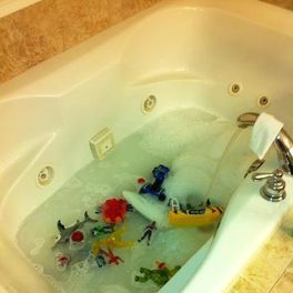 tub full of toys
