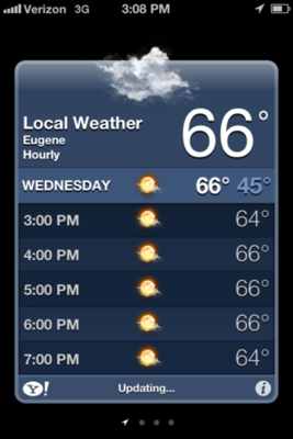 weather app iPhone