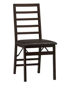 ladder back folding chair black