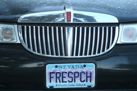 free speech license plate