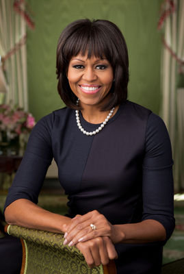 michelle obama second official portrait white house