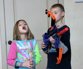 tooth pulling with nerf gun
