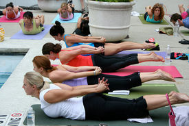 yoga bachelorette party