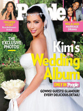 kim kardashian wedding cover of people magazine