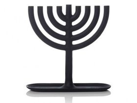 menorah cast iron black