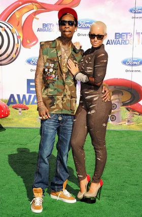 Wiz Khalifa Amber Rose BET Awards