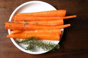 carrots with spruce butter