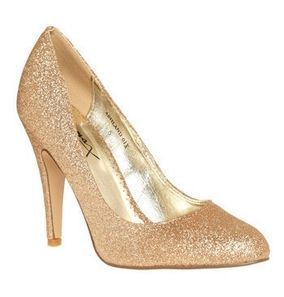 gold sparkle heels shoes pumps