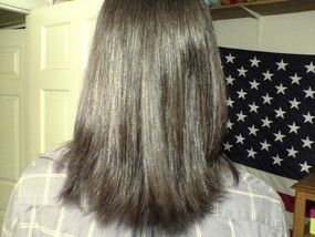 straight hair brazilian blowout