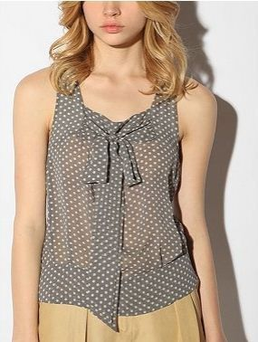 polka dot tie tank top