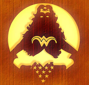 Wonder Woman pumpkin stencil