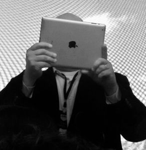 man on ipad
