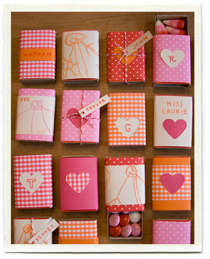 Valentine's candy matchboxes