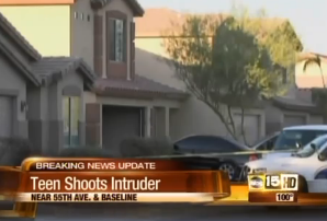 teen shoots intruder