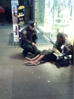 NYPD Officer DePrimo Homeless man
