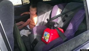 unrestrained kid in car