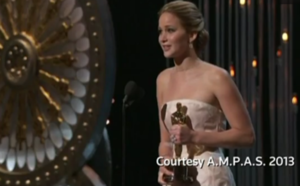 jennifer lawrence accepting her oscar 2013