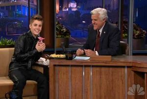 justin bieber and jay leno