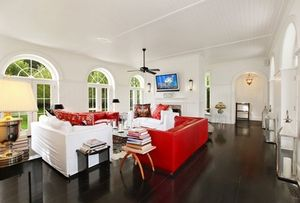 kelly bensimon living room red couch