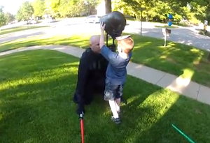 dad surprises son