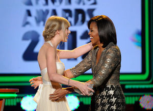 taylor swift michelle obama kids choice