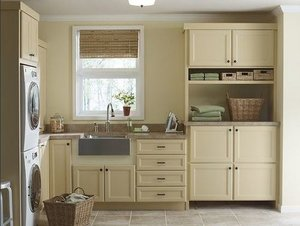 Martha Stewart laundry room cabinetry