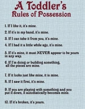 toddlers rules possesion