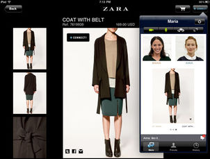 zara ipad app lets you shop with your long distance. Black Bedroom Furniture Sets. Home Design Ideas