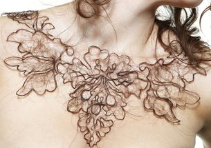 human hair necklace