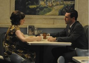 Peggy and Don on Mad Men