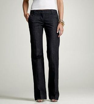 downtown denim trouser j. crew