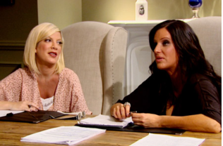 Tori Spelling and Patti Stanger