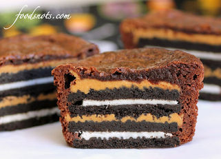Oreo & Peanut Butter Brownie Cakes