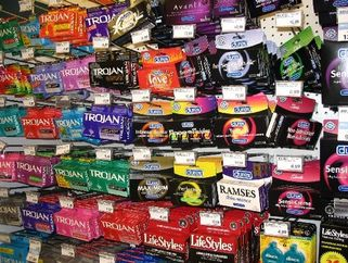condoms at a drugstore