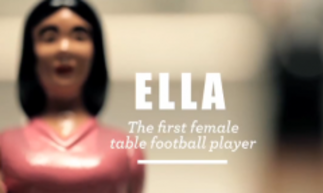 ella female table football player