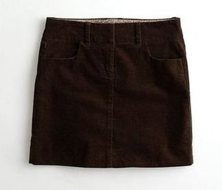 brown cord mini skirt
